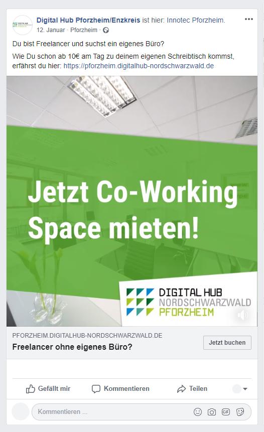 Social Media Post Digital Hub Pforzheim