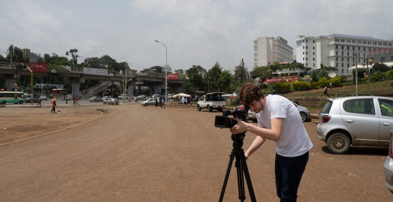 Addis Abeba - Meskel Square - Ich an der Kamera